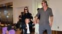 Angelina Jolie, Brad Pitt, et trois de leurs enfants au mois de juillet 2013.