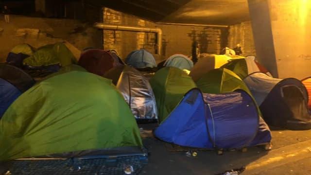 Un campement de migrants a été évacué ce jeudi (illustration).