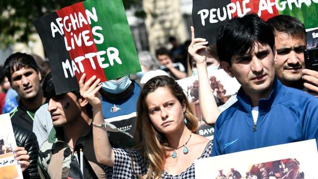 Une manifestation en soutien au peuple afghan à Paris, le 22 août 2021.