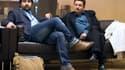 Fabrice Arfi (à gauche) et Edwy Plenel contestent l'application du taux de TVA au site d'information Mediapart.