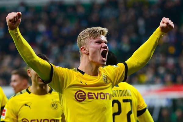Erling Braut Haaland, l'avant-centre norvégien du Borussia Dortmund, en 2020