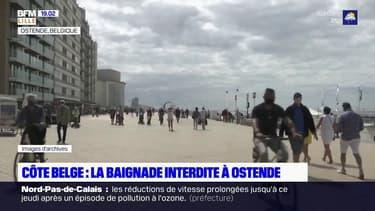 Côte belge: la baignade interdite à Ostende