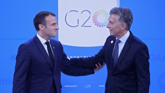 Emmanuel Macron et Mauricio Macri