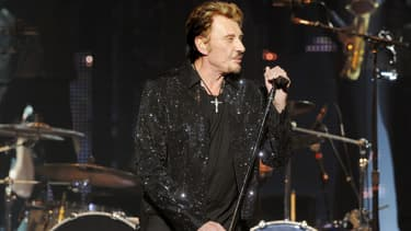 Johnny Hallyday en concert à Saint-Etienne en 2009