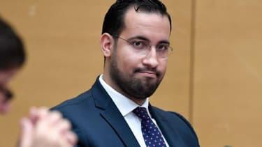 Alexandre Benalla devant la commission d'enquête du Sénat.