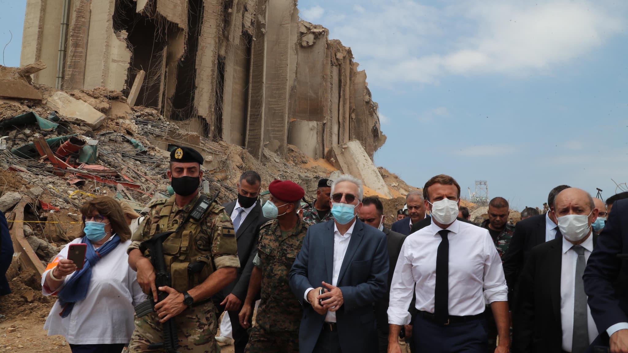 Explosions à Beyrouth: le RN et les insoumis accusent Macron d'ingérence au  Liban