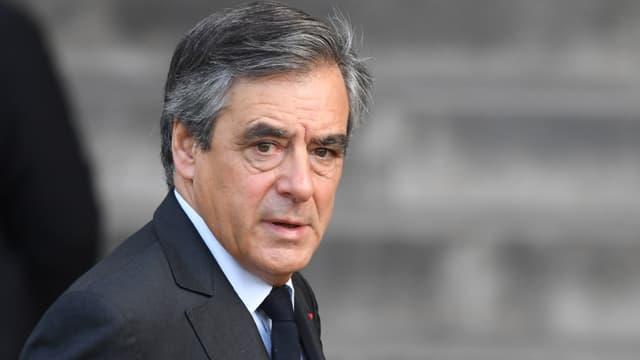 François Fillon aux obsèques de Jacques Chirac à Paris, le 30 septembre 2019
