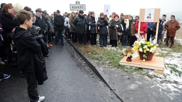 Une marche blanche à la mémoire de Patricia Bouchon, le 14 février 2012.