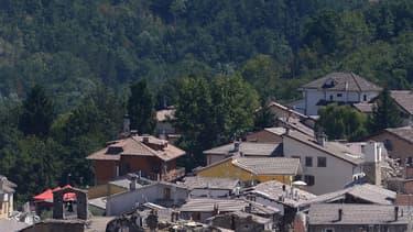 Le village d'Amatrice le 25 août 2016.