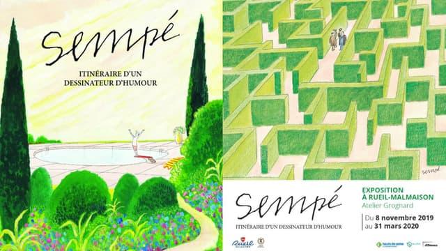 """L'exposition """"Sempé - Itinéraire d'un dessinateur de presse, se tient à l'atelier Grognard à Rueil Malmaison"""" jusqu'au 31 mars."""