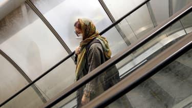 Une Iranienne portant un masque à Téhéran, le 26 mai 2020.