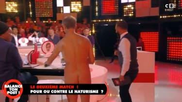 """Un homme nu sur le plateau de """"Balance ton post"""" sur C8"""