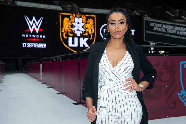 """Amale """"French Hope"""" Dib avant un enregistrement de NXT UK en septembre 2020"""