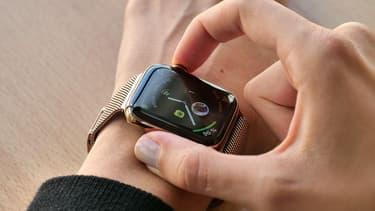 Une Apple Watch, comme celle dérobée par le voleur