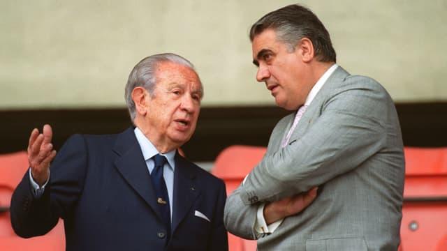 Lorenzo Sanz à droite