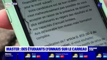 Lyon: des centaines d'étudiants se retrouvent sans affectation
