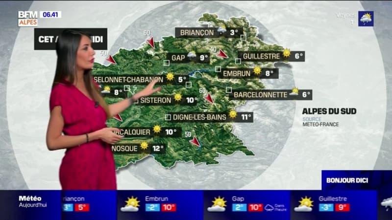 Météo:  du soleil dans le sud de la région, 12 degrés à Manosque ce lundi après-midi