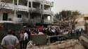 L'attentat a causé de gros dégâts matériels sur le bâtiment de l'ambassade.