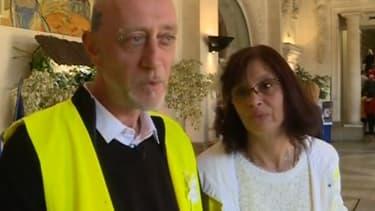 Ennrick et Christel dans la mairie de Montluçon.
