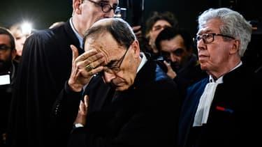 Le cardinal Philippe Barbarin le lundi 7 janvier 2019 au tribunal de Lyon