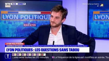 Lyon Politiques: l'émission du 18/03 avec Andréa Kotarac, candidat RN aux élections régionales en Auvergne-Rhône-Alpes
