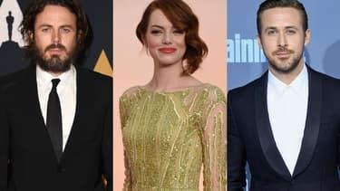 Casey Affleck, Emma Stone et Ryan Gosling sont nommés à la 89ème cérémonie des Oscars.