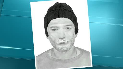 Portrait robot diffusé mardi par le parquet de Toulouse, d'un homme suspecté d'être lié au meurtre de Patricia Bouchon.