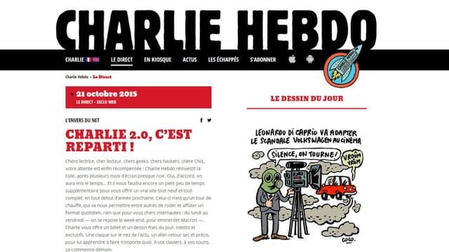 Le journal satirique est de retour sur internet avec un nouveau site.