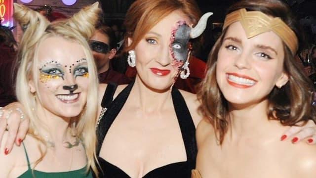 Evanna Lynch, JK Rowling et Emma Watson