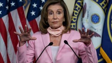 La responsable démocrate Nancy Pelosi, le 22 août 2020 à Washington