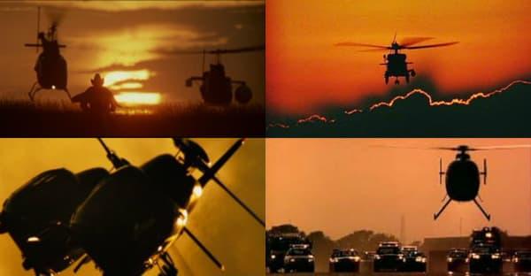 Les hélicoptères au soleil couchant, un motif récurrent du cinéma de Michael Bay