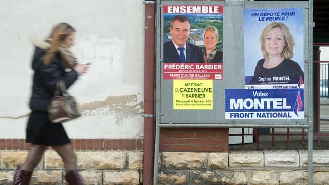 Les panneaux électoraux ont envahi la 4e circonscription du Doubs.