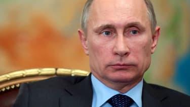 Le président russe Vladimir Poutine, ce mercredi 26 février, lors d'une réunion à sa résidence de Novo-Ogaryovo.