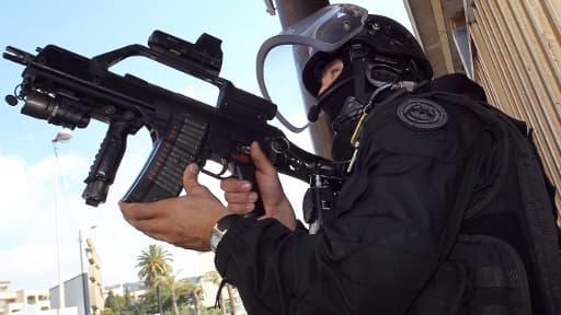 Membre du GIPN à Cannes, lors du coup de filet anti-terroriste du 6 octobre
