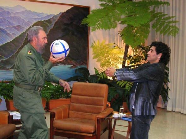 Castro et Maradona