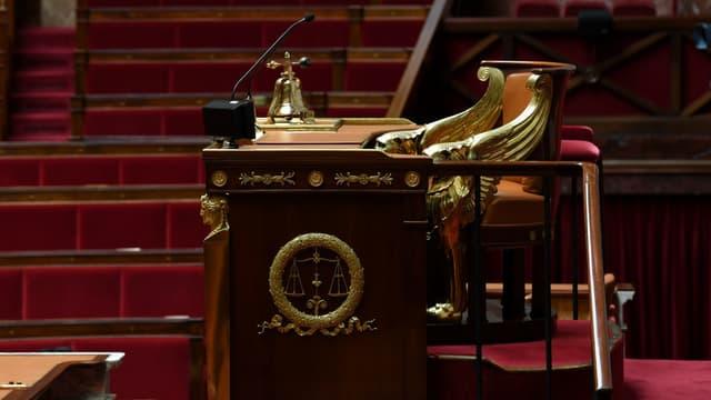 Le fauteuil de la présidence de l'Assemblée nationale.