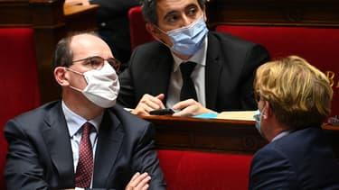 Jean Castex et Gérald Darmanin à l'Assemblée nationale le 24 novembre 2020.