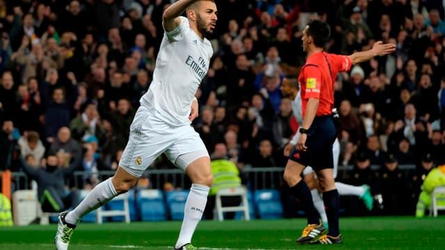 Karim Benzema après son but contre Séville