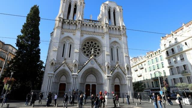 La basilique Notre-Dame de l'Assomption à Nice, le 30 octobre 2020