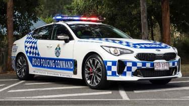 330 Kia Stinger GT, la version équipée du V6 de 370 chevaux, serviront désormais de voiture de police en Australie.