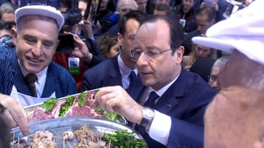 François Hollande, samedi, au Salon de l'agriculture.