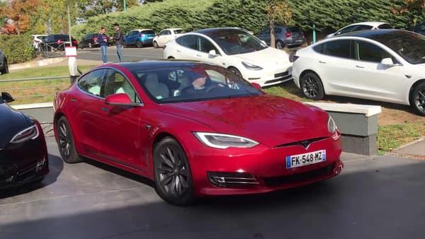 La Tesla Model S Grande autonomie de notre essai.