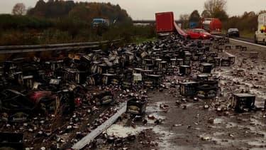 30.000 bières sur une autoroute allemande