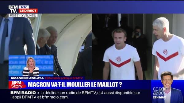 Emmanuel Macron avec Arsène Wenger