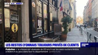 Les restaurants lyonnais toujours privés de clients