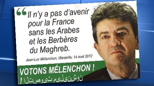 Les faux tracts diffusés contre Jean-Luc Mélenchon lors des législatives de 2012