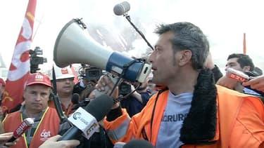 Edouard Martin, leader syndical de la CFDT des aciéries de Florange, en mars 2012 à Paris.