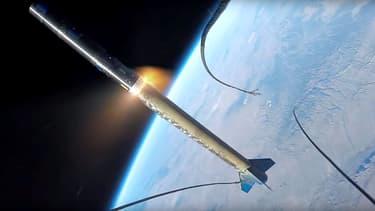 Le décollage d'une fusée filmé par une GoPro
