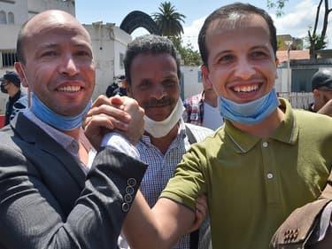 Deux opposants politiques du mouvement Hirak libérés de prison le 18 mai 2020 à Alger