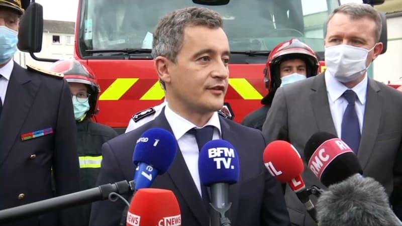 """Pompier blessé à Étampes: """"la République est partout chez elle"""", réagit Gérald Darmanin"""